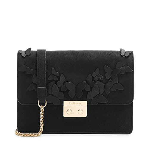 Cross LaBante London Women for Leather Vegan Black Bag Body 'Vanessa' wI6xIH7q1
