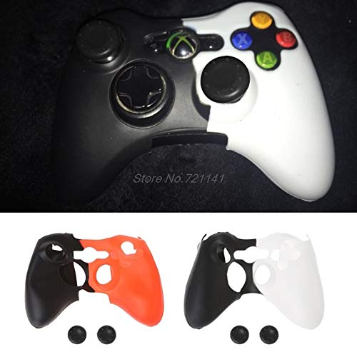 (KIMME Double-Color Silicone Cover Joystick Gel Skin Soft Protective Case for Xbox 360 Controller Gamepad Electronics Stocks)
