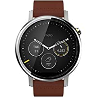 Motorola Moto 360 Men 46mm Leather Watches