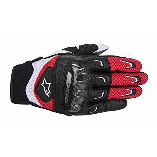 NEW ALPINESTARS SMX-2 AIR CARBON ADULT LEATHER GLOVES, RED/BLACK, 2XL/XXL