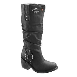Harley-Davidson Womens Jana Black Leather High Cut Boot (8)