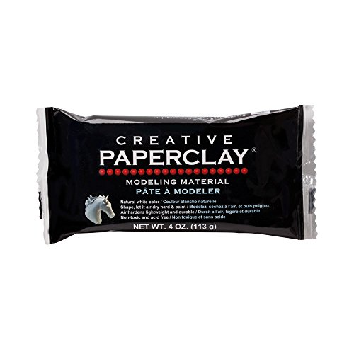 Creative Paperclay for Modeling Compound, 4-Ounce (113g), -