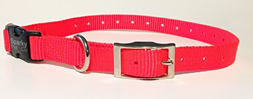sparky-petco-e-collar-compatible-mini-neon-orange-3-4-nylon-double-buckle-quick-snap-replacement-str