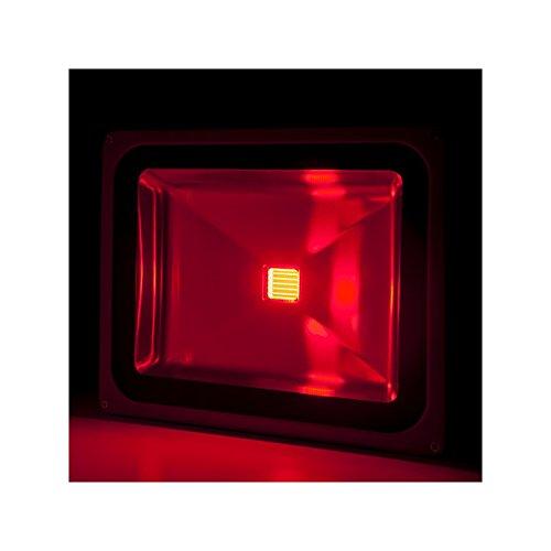 Foco Proyector de LEDs para Exterior BRICO 50W 4250Lm 30.000H Rojo: Amazon.es: Iluminación