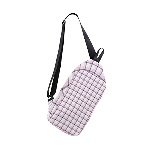 amp; For Bags Chest Bag Backpack Sling Bennigiry Shoulder Women One Crossbody Men Lattice PafnqwnO