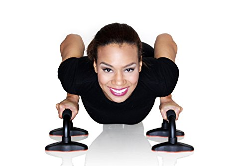Pushup Stand Best exercise total workout equipment for men and women. Made with well constructed tubular steel with comfortable foam grips. Lightweight, portable and very durable for that perfect push up guarantee. No home gym, total gym, p90x or T25 needed. Push Up Bar By Rush Sports