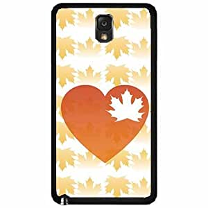 Heart Leaf With Fall Autumn Leaves Background Plastic Fashion Phone Case Back Cover Samsung Galaxy Note III 3 N9002