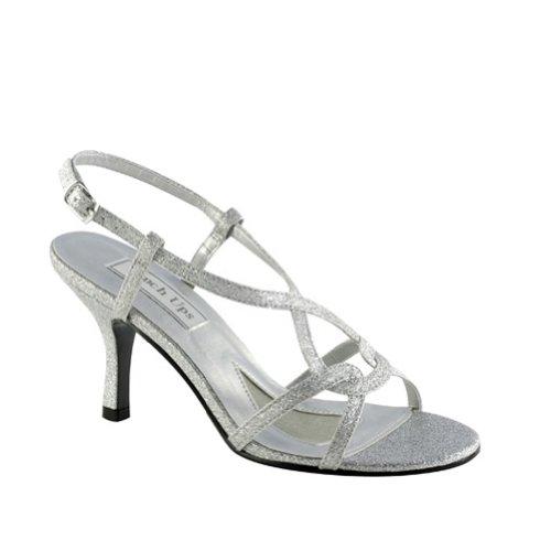 Touch Ups Women's Brenda Sandal,Silver Glitter,10 M (Touch Ups Mid Heel Sandals)