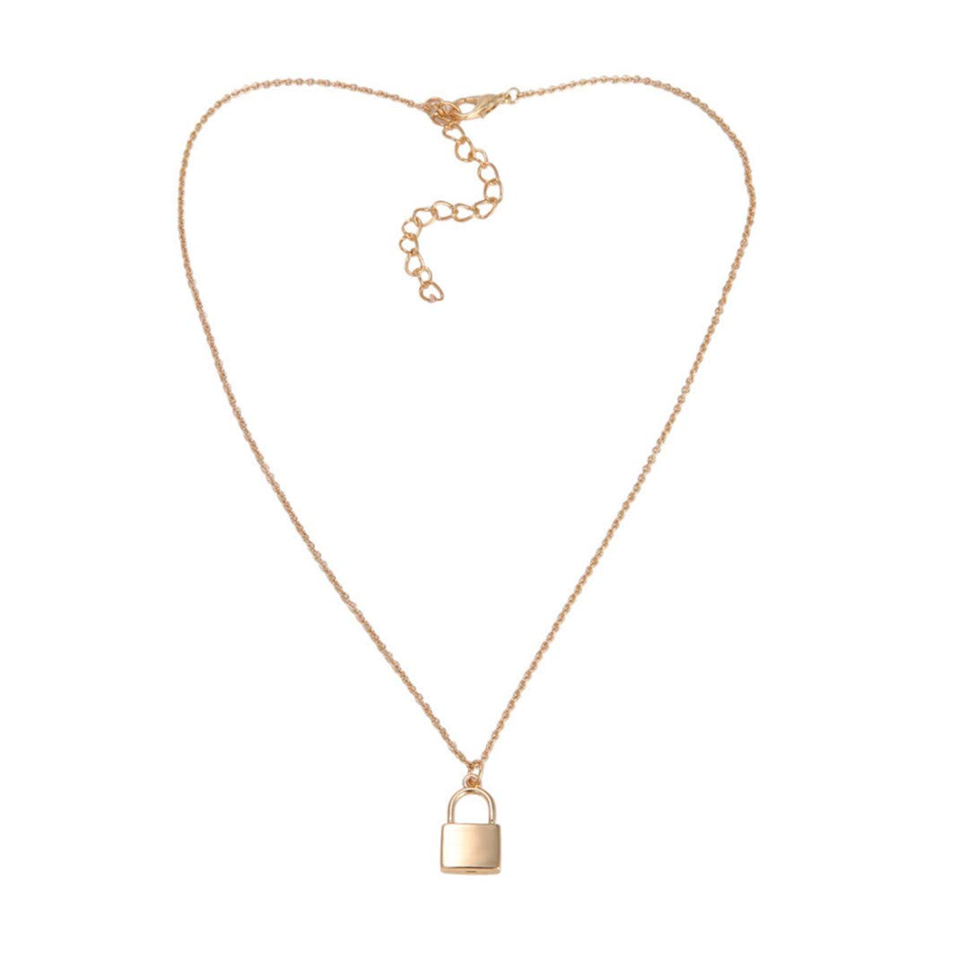 YouCY Personality Lock Pendant Necklace Charm Pendant Necklace for Women Girls Anniversary Valentine's Day Gift