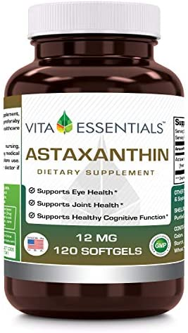 Vita Essentials Softgels Astaxanthin Count