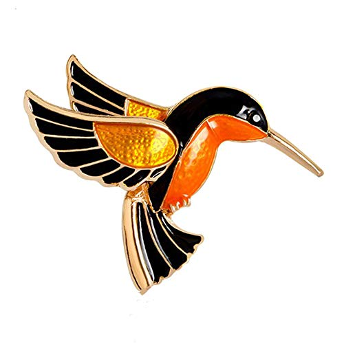 HEART SPEAKER Women Fashion Enamel Bird Brooch Pin Scarf Clothes Decor Jewelry Birthday Gift - Golden - Golden Heart Brooch