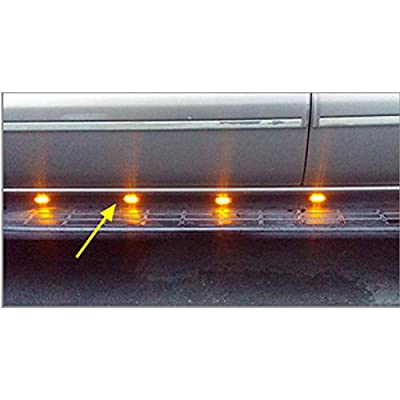 NBWDY 4pcs Trailer Marker LED Light Amber Clear Lens Universal Surface Mount LED Light Repeaters for Truck Trailer Boat Sealed Mini Small Trailer Clearance Identification Lights, 2 Diode: Automotive