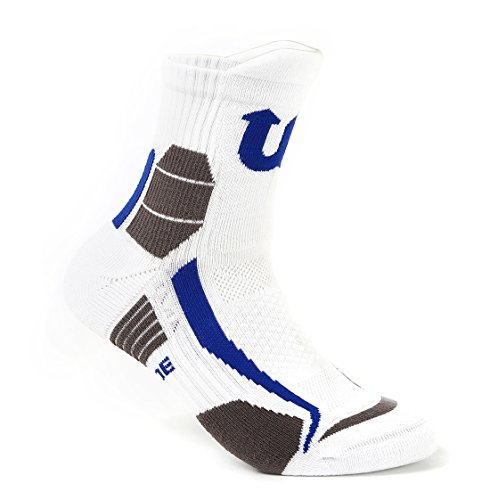 Basketball Softball baseball Athletic player cushioned crew socks with patented ankle support and heel protection design high stretch ability unisex free size Sports socks for athletes workout