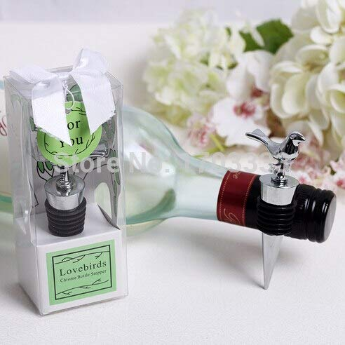 Wedding Label Personalized Dress - Wedding Favors - With Gift Boxes Love Birds Chrome Wine Bottle Stoppers Wedding Favors In Stock - Tea Pouches Heart Let Plastic Time Glass Opener Ribbons Snowflakes