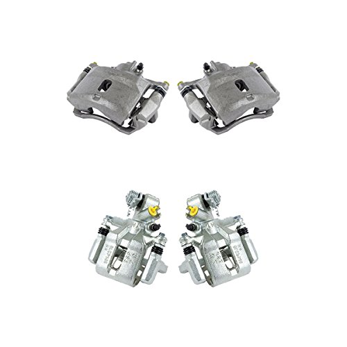 CCK02806 FRONT + REAR [4] Premium Grade Semi-Loaded OE Caliper Assembly Set Kit