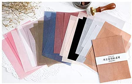 Hongma 折り紙 ペーパー カラフル 手芸 DIY 手作り 混合 薄紙 透明 06(30pcs)