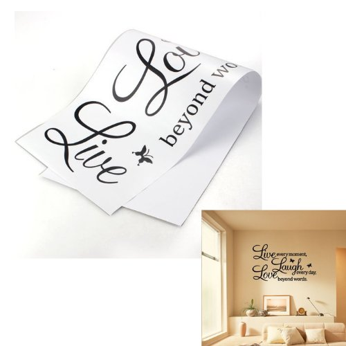 PVC LIVE LAUGH LOVE Letters Removable