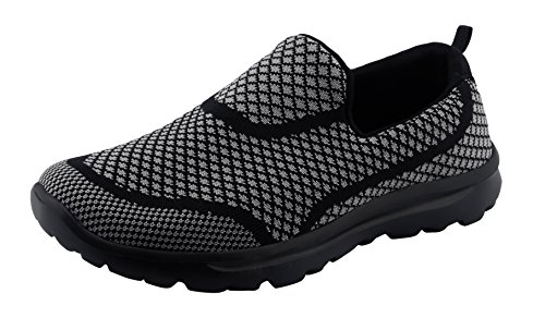 T&Grade Women Fashion Casual Sneakers Breathable Athletic Sports Shoes(10 B(M) US, Black)