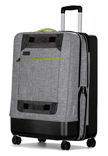 All of Us 28 inch Lightweight Hybrid Rolling Large Spinner Suitcase ()