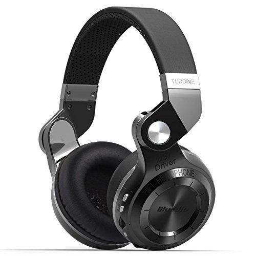 - Urvoix Wireless Bluetooth Headphones, On-Ear Design Stereo Bass Swiveling Rotary Foldable Headset w/ Mic, FM Radio & Micro SD Card Slot, Black