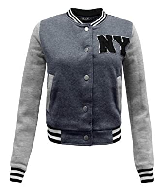ENVY BOUTIQUE LADIES COLLEGE VARSITY BASEBALL JACKET JERSY TOP ...