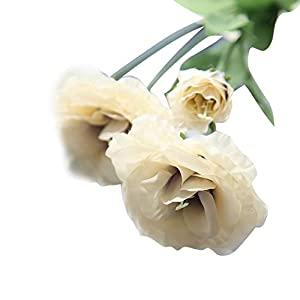 MARJON Flowers4 Head Artificial Fake Flowers, Wedding Bouquet Garland Real Touch Parties, Offices, Restaurants,Home Decor 46