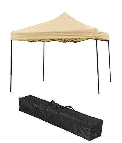 Trademark Innovations Lightweight & Portable Canopy Tent Set, Beige, 10' x 10'