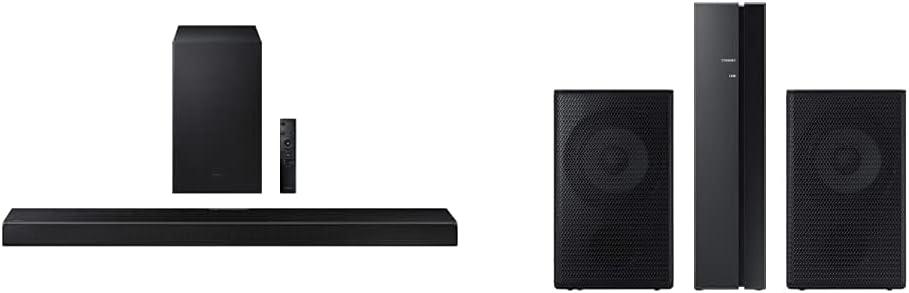 Samsung |HW-Q600A | 3.1.2ch | Soundbar | w/Dolby Atmos/DTS:X | 2021 with Samsung | SWA-9100S | Wireless Rear Speaker Kit | 2021