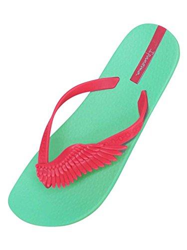 Green & Pink Ipanema Neo Sky Wing Strap Brazilian Flip Flops Size 6