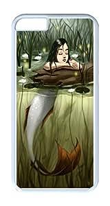 iPhone 6 Plus Case Cover, River Mermaid Customize White Plastics Hardshell Case for iPhone 6 Plus 5.5 Inch