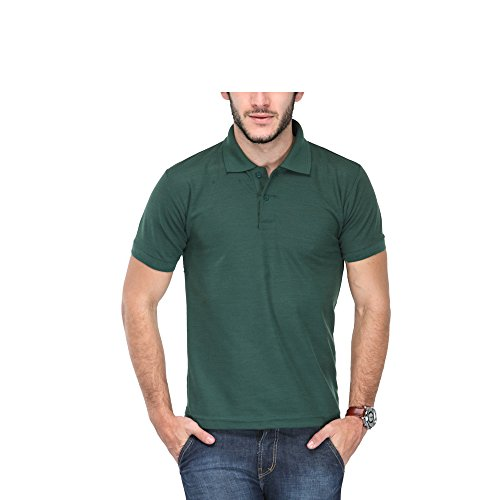 TSX Mens Poly Cotton Polo T-Shirt(TSX-POLOT-D-XL_Green_X-Large)