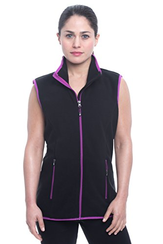 Performance Fleece Vest (Penn Women's Granite Peak Fleece Athletic Performance Cold Weather Outerwear Vest - Peak Black, Medium)