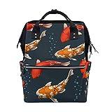 DEZIRO canvas Beautiful Fancy Carps School pack Backpacks Travel bag