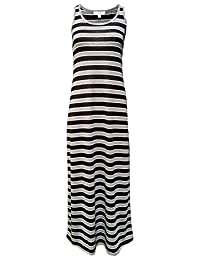 MonsterCloset Plus Size Sleeveless Maxi Dress