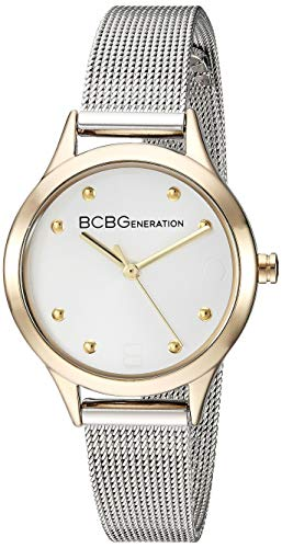 BCBGGENERATION Women's Japanese-Quartz Watch with Stainless-Steel Strap, Silver, 11.2 (Model: GN50723002)