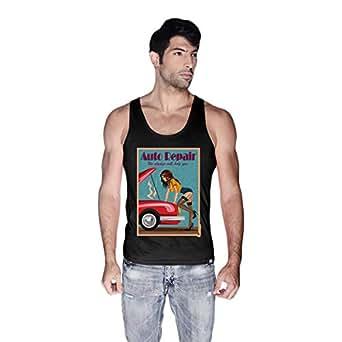 Creo Auto Repair Beach Tank Top For Men - L, Black