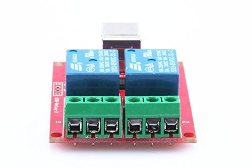 KNACRO SRD-05VDC-SL-C 2-Way 5V Relay Module Free Driver USB Control Switch PC Intelligent Control by KNACRO (Image #3)