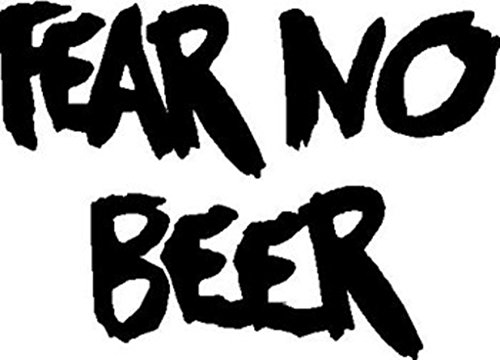 Fear No Beer Vinyl Cut Decal | Cooler Fridge Cars Trucks Vans Walls Toolbox Laptop | 5 X 3.6 In Decal | KCD270 (Bottom Up Kegerator compare prices)