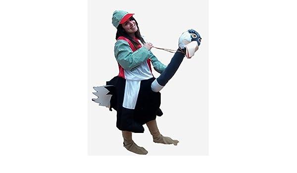 Disfraz de Jockey Avestruz - Mujer, L: Amazon.es: Ropa y accesorios