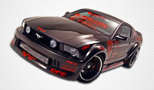 2005-2009 Ford Mustang Carbon Creations Hotwheels WideBody Kit - Includes Carbon Creations Hot Wheels Widebody Front Bumper (102825), Rear Bumper (102826), Sideskirts (102827), Front Fenders (102828), Rear Fender Flares (102829), ()