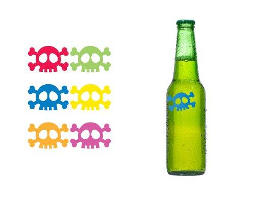 Kikkerland Skull Silicone Drink Markers, Set of 6 by Kikkerland (Image #1)
