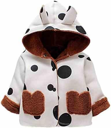 e3e613eca5c4 Fartido Toddler Baby Coat Kids Cartoon Long Sleeve Ears Hoodie Winter  Outwear