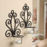 Scroll Wall Sconce Candleholders (2-Pack) (Candle Holder, 1)