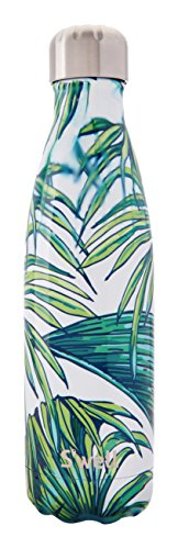 S'well Vacuum Insulated Stainless Steel Water Bottle, Double Wall, 17 oz, Waikiki