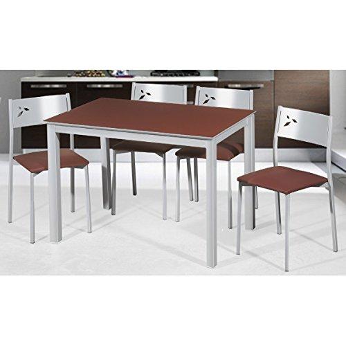 SHIITO Mesa de Cocina 110x70 cm Extensible a 160 cm con Tapa en ...