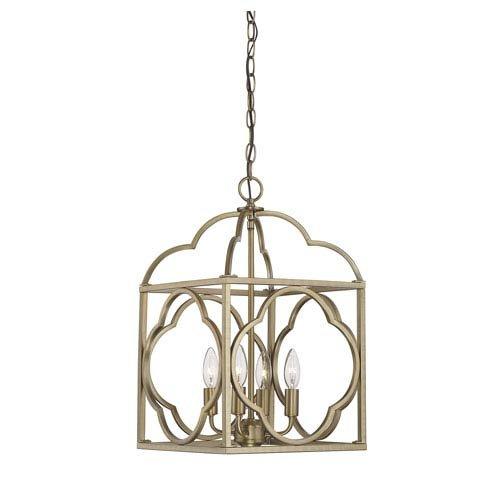 251 First Whittier Natural Brass Four-Light Lantern Pendant (Whittier Pendant Lantern)
