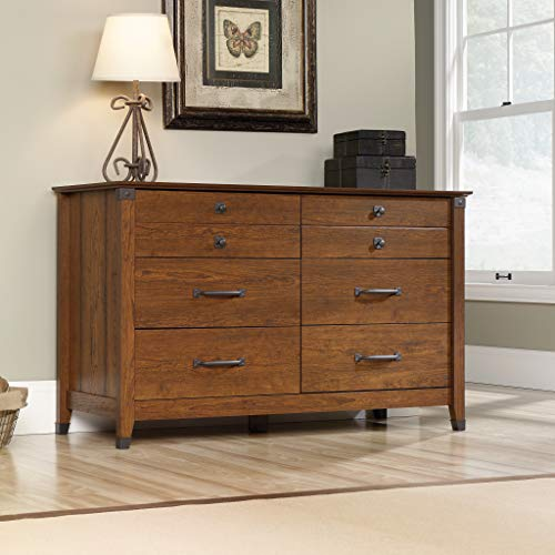 "Sauder 415520 Carson Forge Dresser, L: 57.80"" x W: 18.50"" x H: 33.90"", Washington Cherry finish"