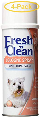 Fresh N Clean Dog Cologne Spray - Original Floral Scent 6 oz - Pack of 4