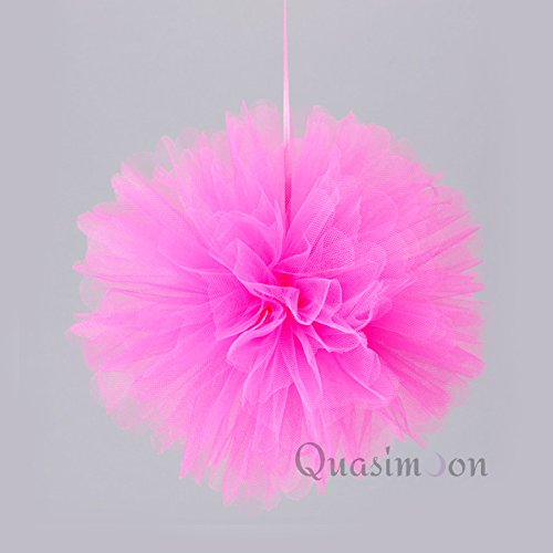 Fuchsia Tulle Flower Decoration (PaperLanternStore.com 10