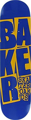 "Baker Stacked Blue / Yellow Skateboard Deck - 7.75"" x 31.5"""